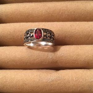 Jewelry - S.Silver Garnet/Marcasite